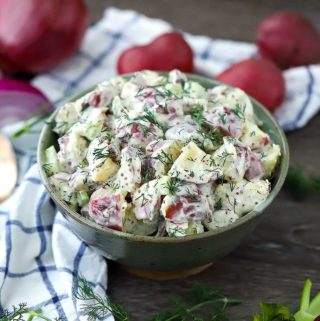 Dill Potato Salad with Mustard Buttermilk Dressing