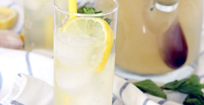 Iced Ginger Honey Lemon Tea
