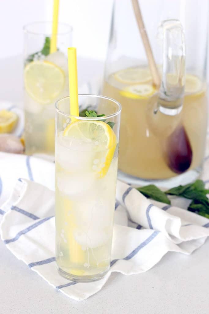 Iced Ginger Honey Lemon Tea