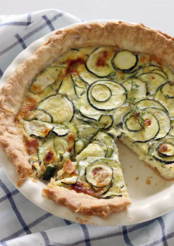 Easy zucchini quiche for The best quiche ever