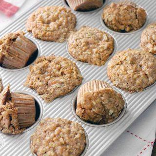 Whole Grain Apple Pie Muffins