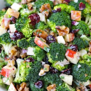 Broccoli Salad with Apples, Walnuts, and Cranberries