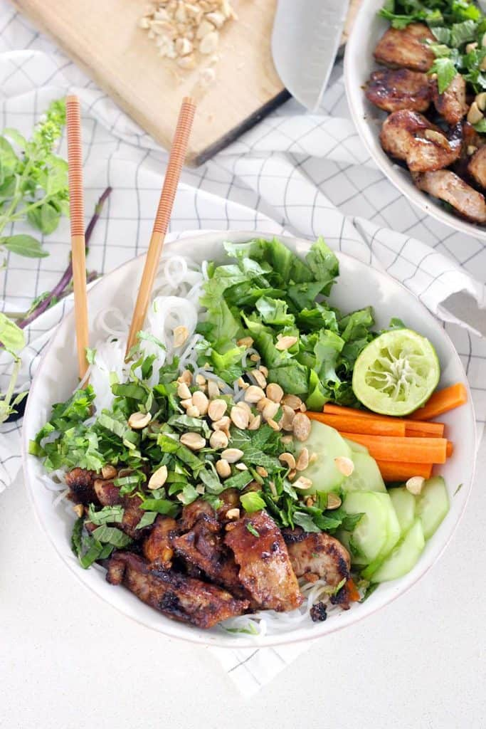 Easy Vietnamese Pork Bun Bowls | Bowl of Delicious