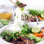 This recipe for Vietnamese Pork Bún Bowls uses a few shortcuts to make it quick and easy without sacrificing flavor. It's fresh, healthy, gluten free, and adaptable to be vegan/vegetarian!   www.bowlofdelicious.com