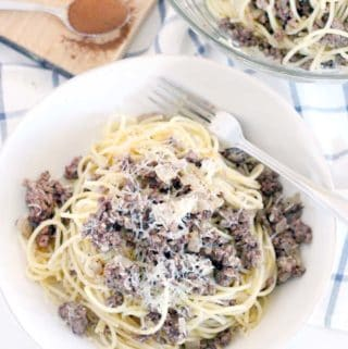 Greek Spaghetti (Spaghetti with Browned Butter, Ground Beef, and Cinnamon)