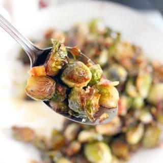 Maple Roasted Brussels Sprouts and Bacon