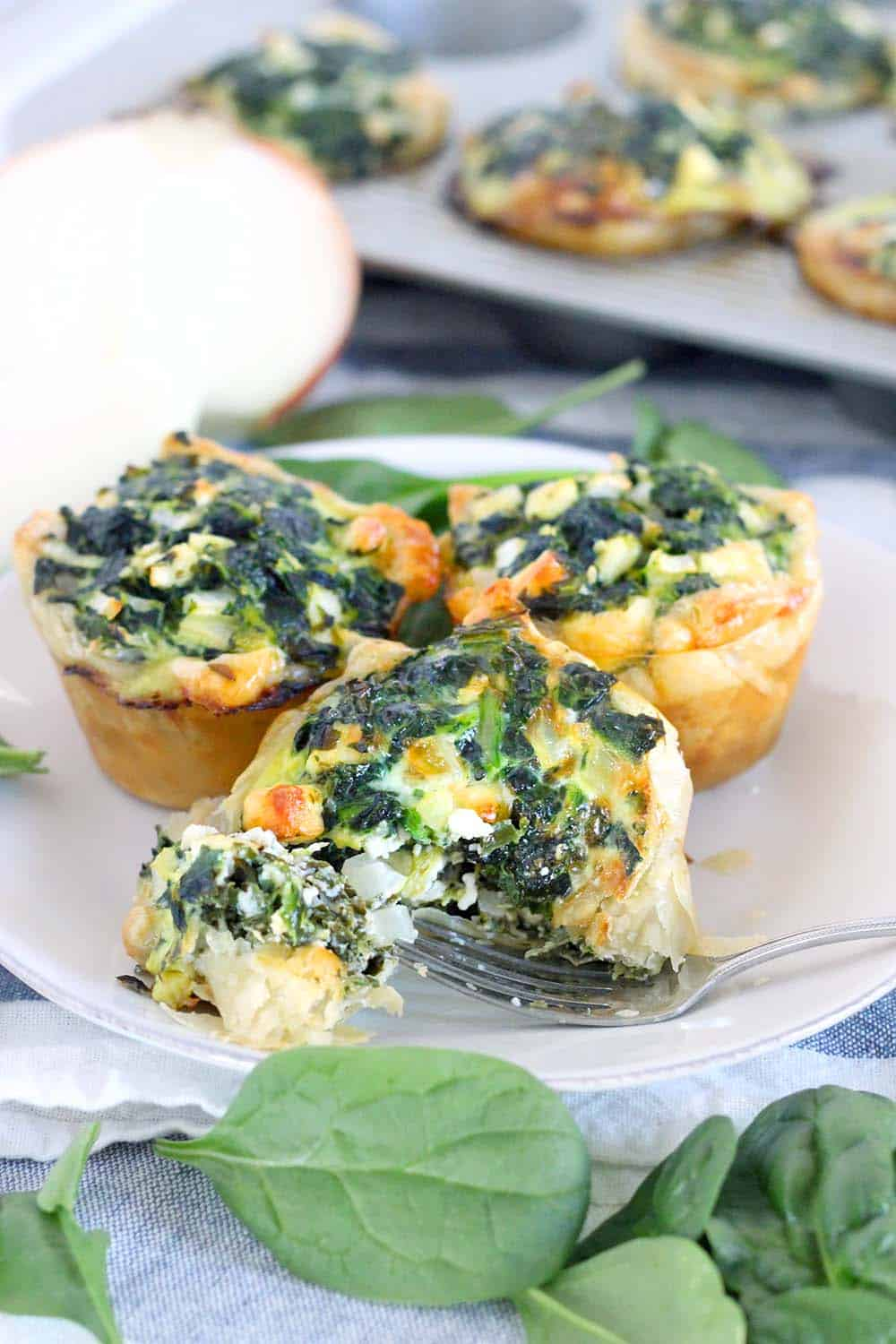 Mini Spinach Feta Pies Spanakopita Bowl Of Delicious