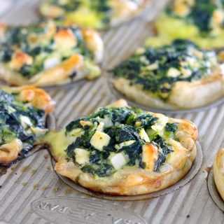 Mini Spinach Feta Pies (Spanakopita)