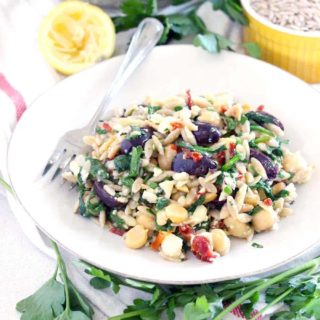 Mediterranean Chickpea and Orzo Salad