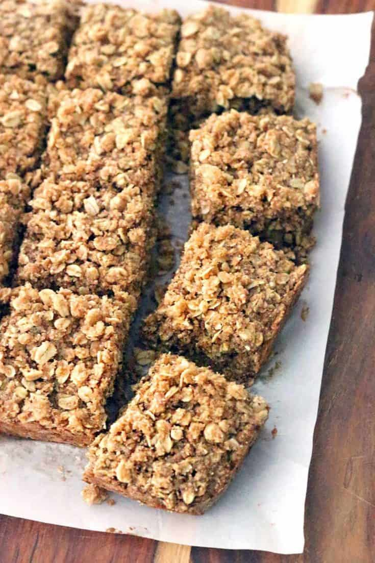 Maple and Brown Sugar Oatmeal Squares