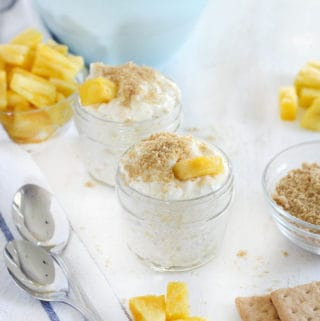 No-Bake Pineapple Cheesecake Whip (Four Ingredients and Refined Sugar Free!)