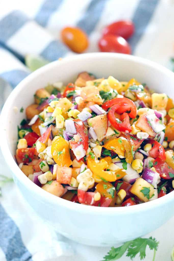 Simple Summer Peach Salsa | Bowl of Delicious