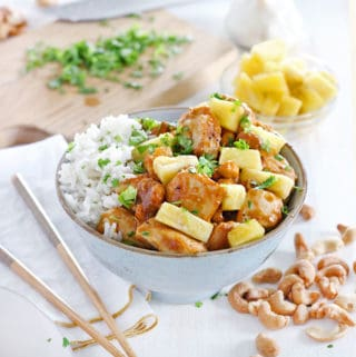 Skinny Pineapple Chicken with Cashews