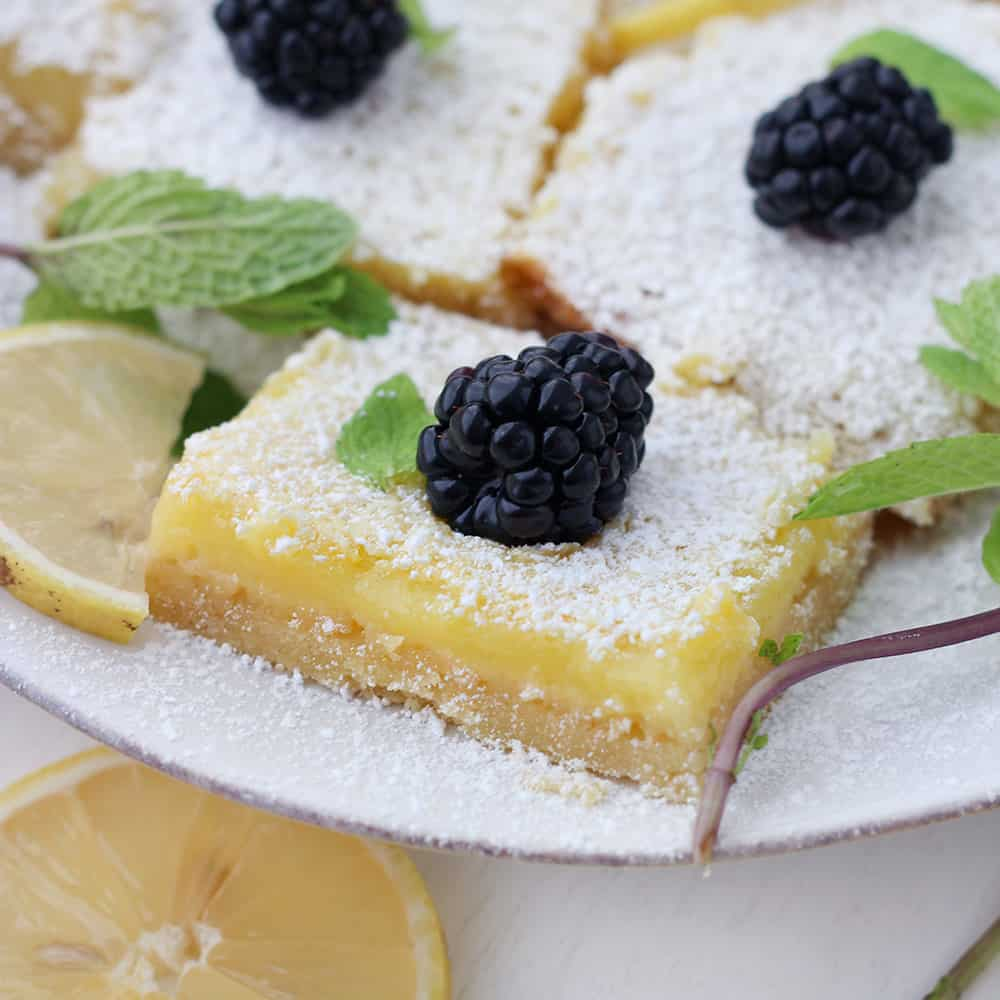 Easy Meyer Lemon Bars - Bowl of Delicious