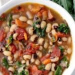 pinterest image for black eyed pea soup