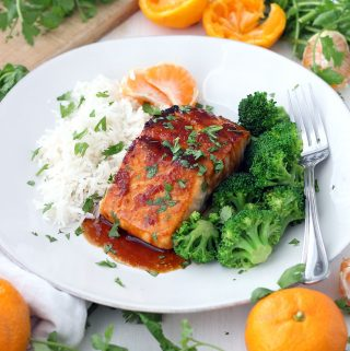 Mandarin Orange Glazed Salmon