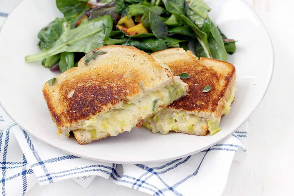 Leek and Gruyere Grilled Cheese - Bowl of Delicious