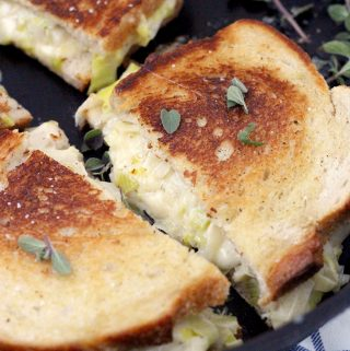 Leek and Gruyere Grilled Cheese