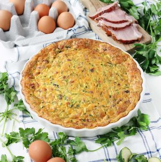 Crustless Ham and Zucchini Quiche