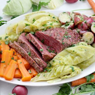 Instant Pot Corned Beef with Cabbage, Carrots, and Buttered Potatoes