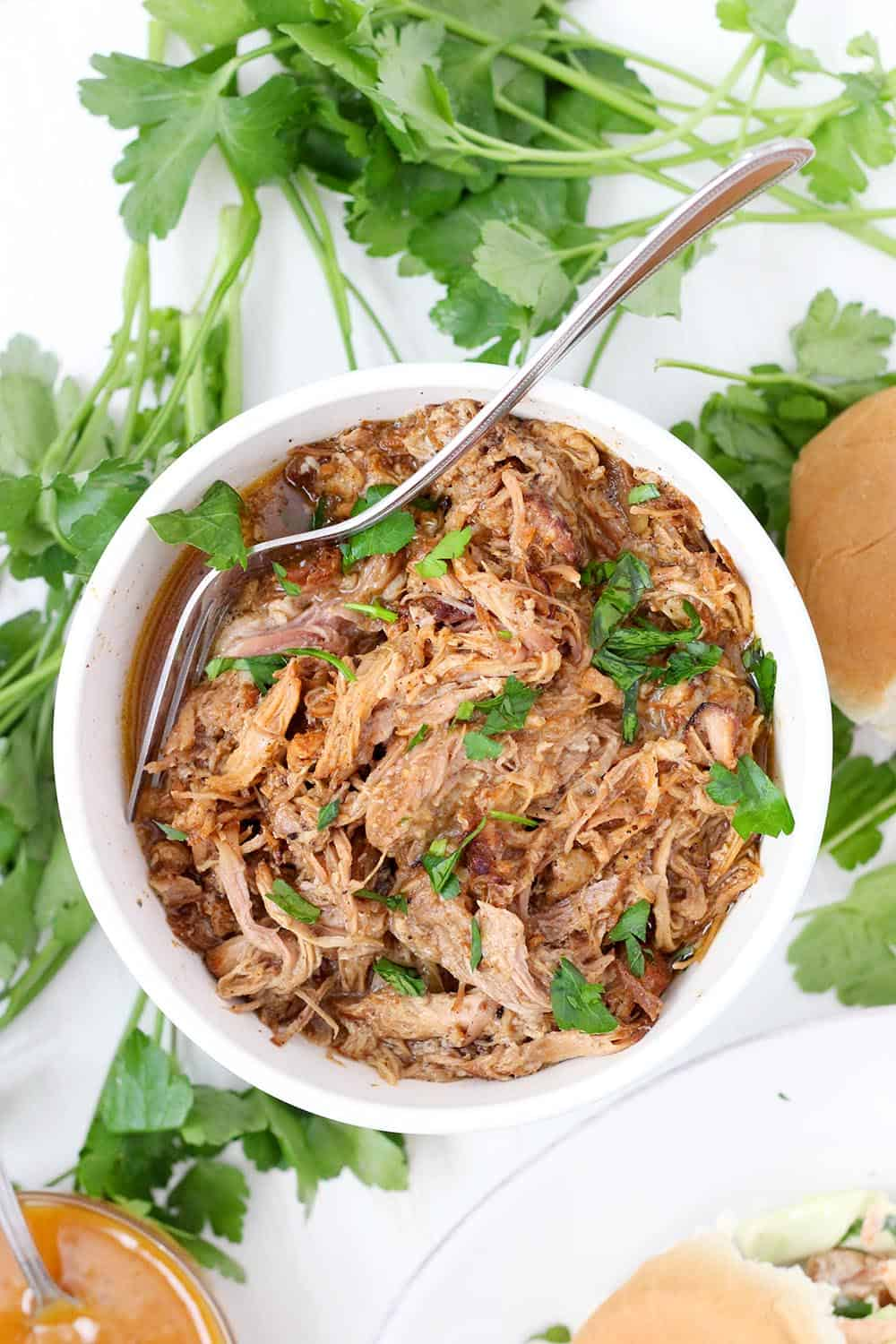 instant pot pulled pork paleo whole30 bowl of delicious
