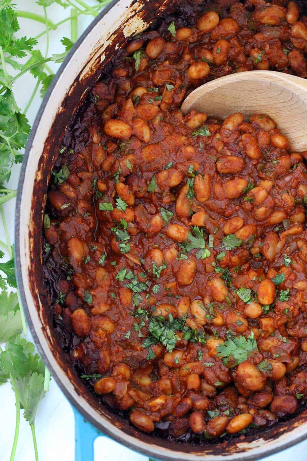 Mexican Baked Beans With Chorizo Bowl Of Delicious