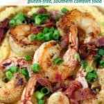 pinterest image for shrimp and grits