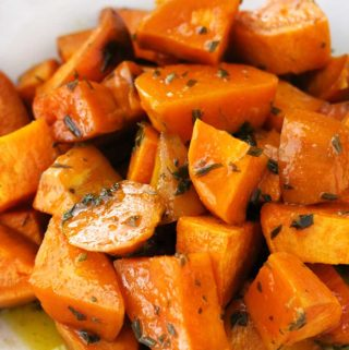 Maple and Rosemary Glazed Sweet Potatoes