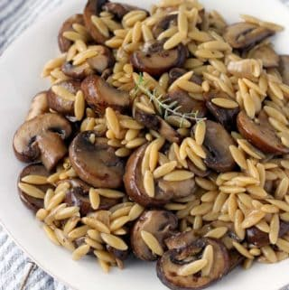 One Pot Orzo with Mushrooms, Browned Butter, and Thyme