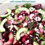 pinterest image for beet salad.