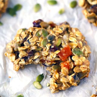 These Breakfast Cookies are a nutritional powerhouse, perfect to jump-start your day! Packed with fiber and protein, and any dried fruits, nuts, or seeds that you want.