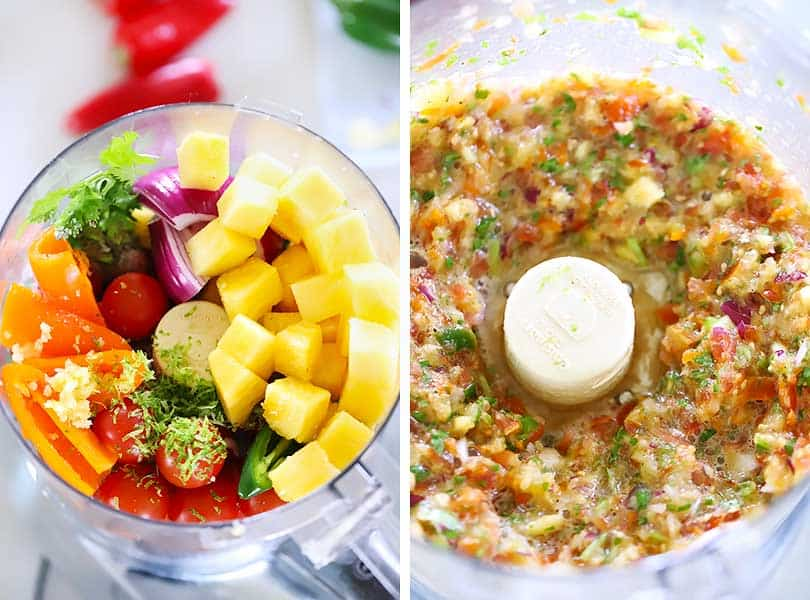How to make pineapple salsa in your food processor