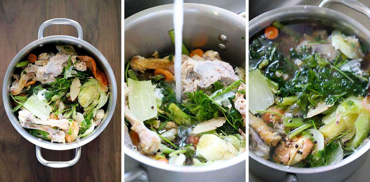 How to prep homemade chicken stock/broth