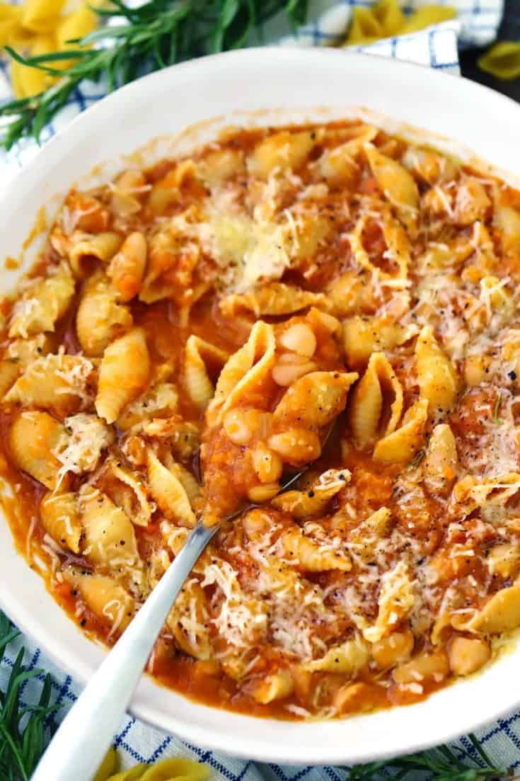 Pasta e Fagioli (Italian Pasta and Beans)