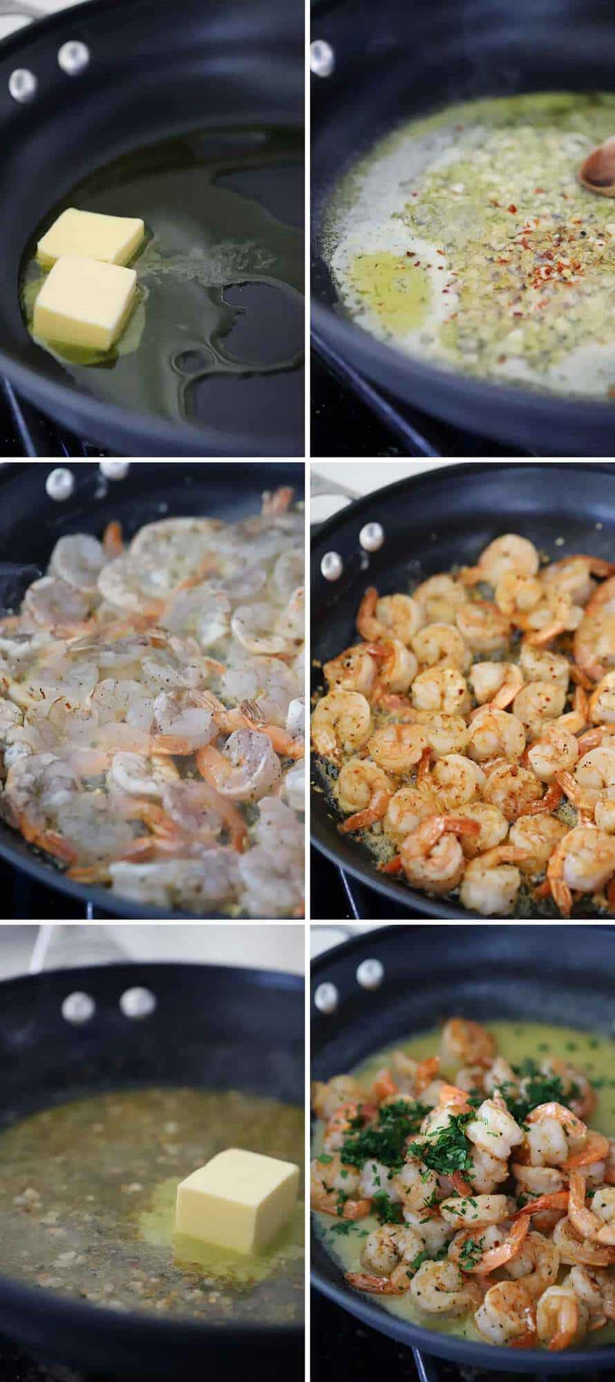 How to make shrimp scampi.