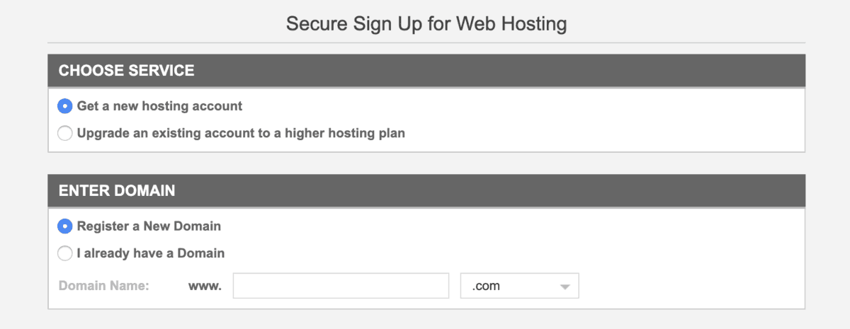 purchasing hosting on siteground and registering a domain