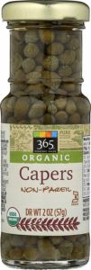 A jar of 365 organic non pareil capers