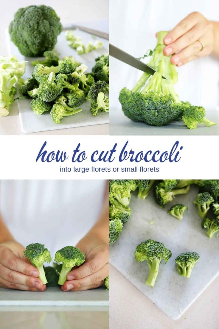 How To Cut Broccoli Into Florets And