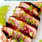 pinterest image for ahi tuna