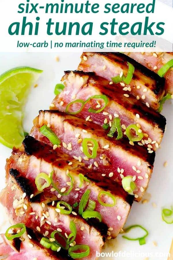 pinterest image for ahi tuna
