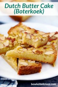 pinterest image for Dutch Butter Cake (Boterkoek)
