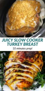 pinterest collage image for slow cooker turkey breast