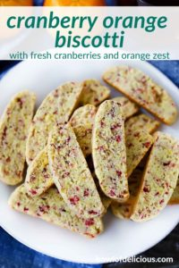 pinterest image for cranberry orange biscotti