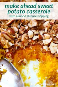 pinterest image for sweet potato casserole