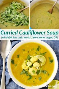 pinterest collage for curried cauliflower soup