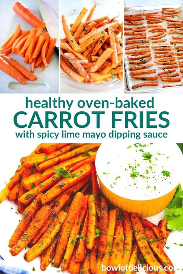 pinterest image for carrot fries