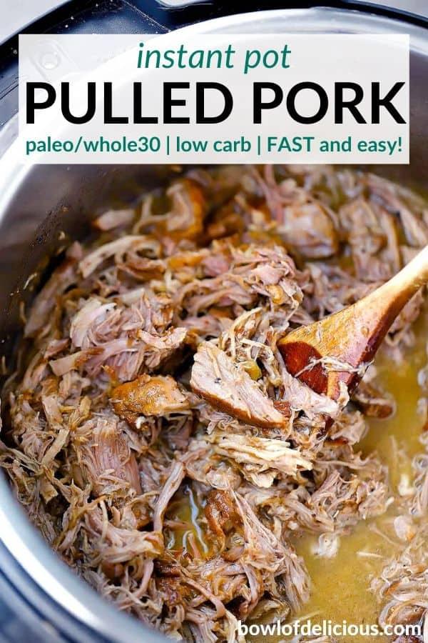 pinterest image for instant pot pulled pork