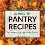 pinterest image for pantry recipes