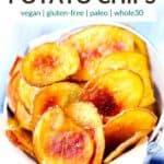pinterest image for homemade potato chips