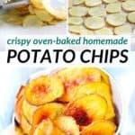 pinterest image for baked potato chips